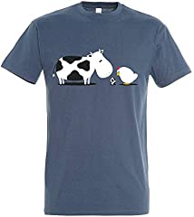 Camiseta A Birth Day - Animales - Humor - Color Azul Denim
