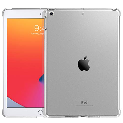 TiMOVO Case for New iPad 8th Generation 2020 / iPad 7th Generation 10.2' 2019 (Compatible with Official Smart Cover) - Slim Translucent Frosted Back Shell Hard Case Fit iPad 10.2-inch - Frosted Clear