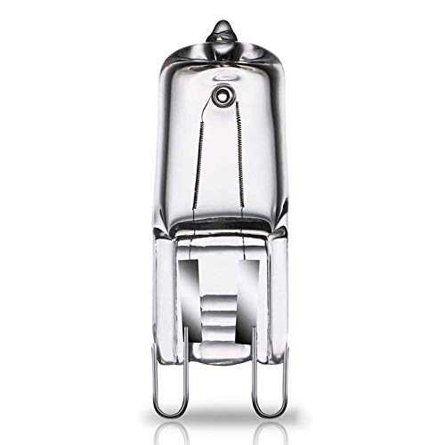 chifans 40W Backofenlampe Ofen Glühbirnen Lampenfassung + G9 Glühbirne Bis 500°C Hitzebeständiges Lebensdauer 2000 Stunden für Mikrowelle/Backofen