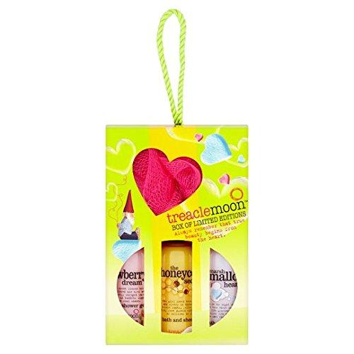 Treaclemoon Geschenkset 3 x 100 ml Duschcreme & Duschschwamm/Badeschwamm/Body Puff