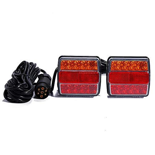 LED Brems SchlußLeuchte RüCkleuchten Set AnhäNger Beleuchtung RüCklicht Magnet 7.5M 7poliger Stecker
