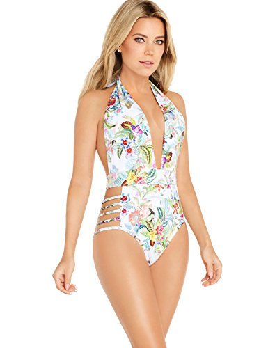 Sylvie Flirty Swimwear Damen Monokini Britta, Mehrfarbig (Flower Print 8888), 42A