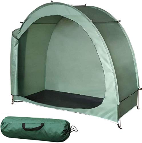 NANDAN Bike Cover Storage Tent,Outdoor Camping Storage Shed,Waterproof Anti-Dust Portable Foldable Bicycle Lawn Mower Storagetent (78X32x65 Inches)