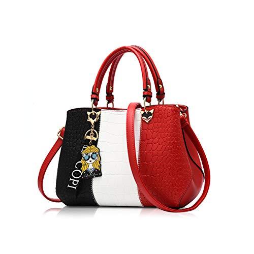 NICOLE & DORIS 2020 Neue Welle Paket Kuriertasche Damen weiblichen Beutel Handtaschen für Frauen Handtasche rot
