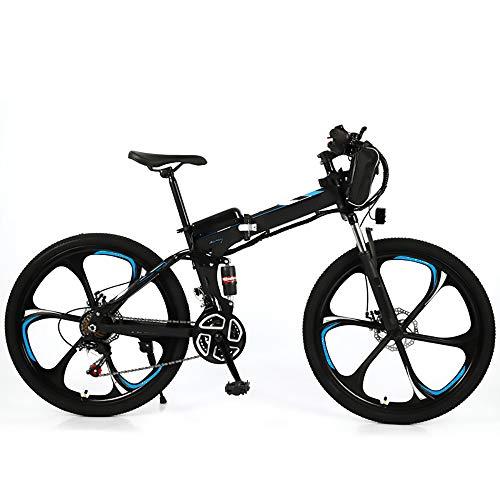 Liangzi E-Bike Bicicletas eléctricas E Bicicleta Plegable, batería de 36 V, Bicicleta eléctrica Plegable de 26 Pulgadas con Motor de 350 W y Engranajes de 21 velocidades, para Hombres y Mujeres