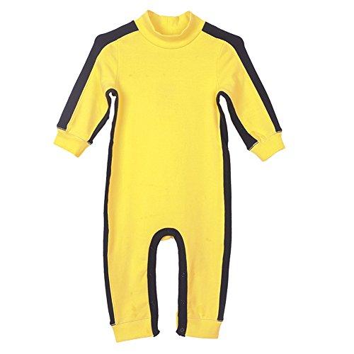 Fairy Baby Kinder Junge Langarm Body lustige Baby Strampler gelber babymode Winter Schlafanzug, 6-12 Monate
