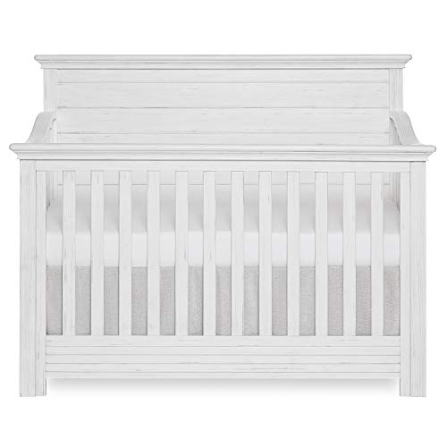 Evolur Waverly 5-in-1 Full Panel Convertible Crib in Weathered White,...