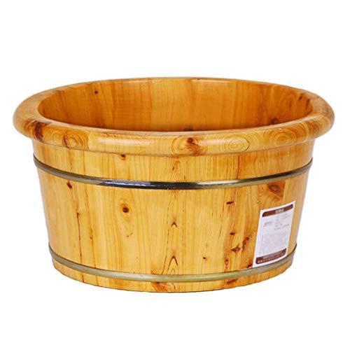 FAP houten voetenbad voetenhouder van cederhout, badton voor thuis, badton voor gezonde voet, pedicure, glad en zacht, kleur van het hout, hoogte: 21 cm