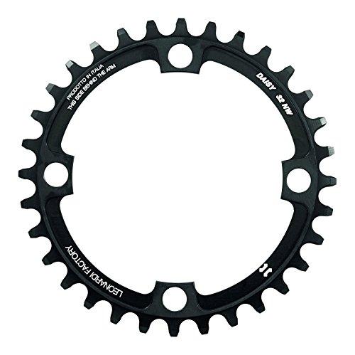 Leonardi Factory Daisy BCD 104 Plato De Bicicleta, Hombre, Negro, 30