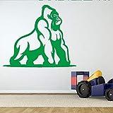 zqyjhkou Wilde Gorilla Ape Wandaufkleber Für Kinderzimmer Wohnkultur Removable Wallpaper Decals Spielzimmer Kunst Aufkleber 6 67X57 cm