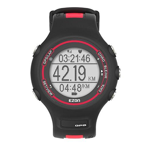 ランニングウォッチ GPS 心拍計 防水 Bluetooth搭載 歩数計活動量計 着信通知 専用日本語アプリ対応 EZONT907B12