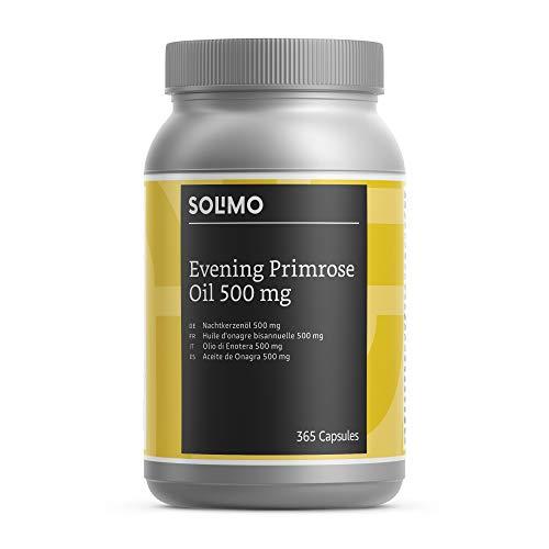 Amazon-Marke: Solimo Nahrungsergänzungsmittel mit Nachtkerzenöl 500 mg und Vitamin E, 365 Kapseln