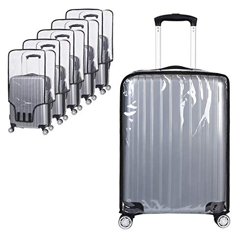Vicloon Suitcase Cover Protectors, Clear PVC Luggage Protector Waterproof DustProof Scratchproof Trolley Case Cover 20-30 Inch Fits for Business Trip Travel School Daily Using (30 Inch)