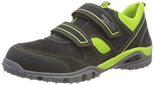 Superfit Jungen SPORT4 Sneaker, Grau (Grau/Grün 20), 27 EU