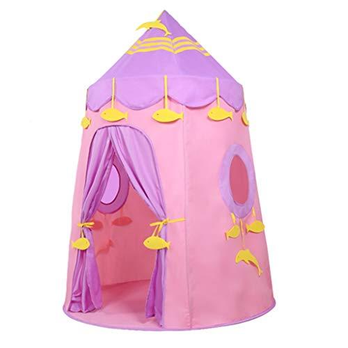 Tiendas de Niños Carpa De Juegos para Interiores, Soporte De Fibra, Carpa para Niños Portátil Fácil De Instalar, Adecuada para Niños Y Niñas, 110x150cm (Color : Pink)