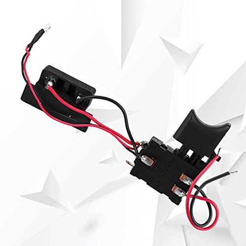 Interruptor de taladro eléctrico de rendimiento superior, interruptor de disparador de taladro 16A, 24 V, piezas de herramientas eléctricas con luz pequeña