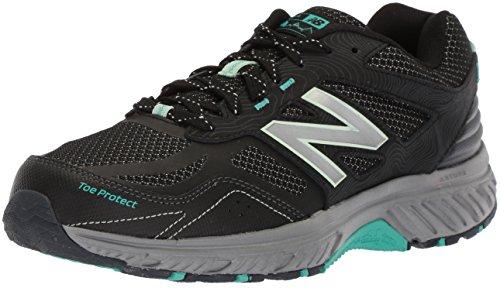 New Balance Women's 510 V4 Trail Running Shoe, Black/Outerspace/Seafoam, 9.5 M US