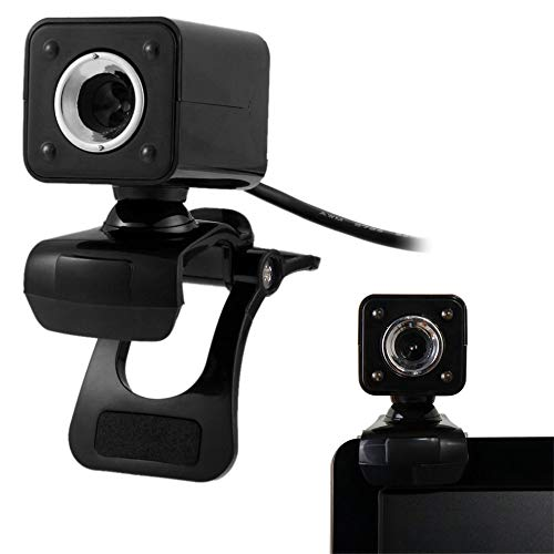STHfficial USB 2.0 4 LED HD Webcam Camera Web Cam Voor Computer PC Laptop Met MIC Zwart