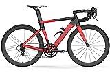ASEDF Bicicleta de vía de Fibra de Carbono con Freno Interno V BSA SHUNTAI Kit 700C Bicicleta Urbana 54