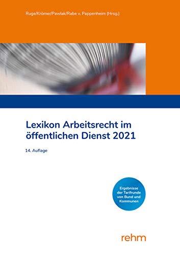 Lexikon Arbeitsrecht im öffentlichen Dienst 2021