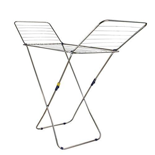 Habitex 33YINOX - Tendedero Plegable Acero Inoxidable, Con Alas