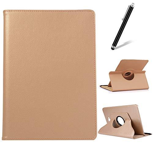 Artfeel Coque pour Huawei MediaPad M6 10.8,Étui à Rabat Cuir Support Rotatif 360 Degrés,Multi-Angle Réglable Mince Léger Flip Folio Tablette Housse,Or