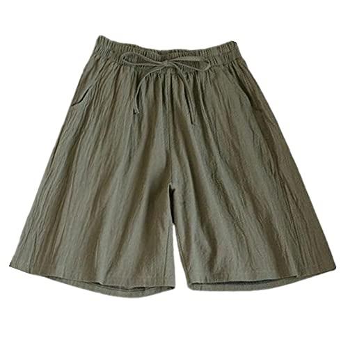 Lady Casual Shorts Color All-Match Bottoms Lado Lateral Lado Alto Cintura
