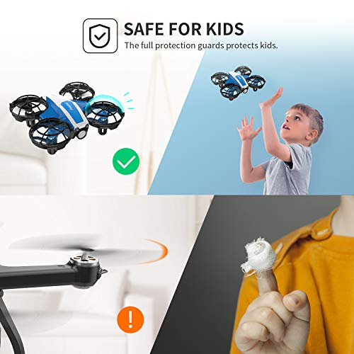 Holyton Mini Drone for Kids Beginners Adults, Hand Operated/Remote Control Quadcopter with 21Mins Flight Time,Auto Hover,Auto-rotation,Throw to Go,Circle Fly, Toys for Boys
