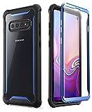 i-Blason Hülle für Samsung Galaxy S10 Handyhülle 360 Grad Hülle Bumper Schutzhülle Clear Cover [Ares] mit Integriertem Bildschirmschutz [Nicht kompatibel mit Fingerabdrucksensor] (Blau)