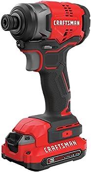 Craftsman V20 20 V 1/4 in. Cordless Brushless Impact Driver Kit