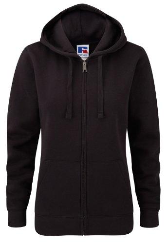 Z266F Damen Authentic Hooded Sweatjacke Sweatshirtjacke Jacke mit Kapuze, Größe:M;Farbe:Black