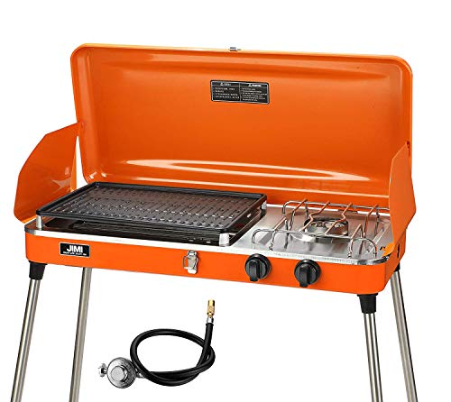 PUPZO Liquid Propane Grill,2 Burner Grill/Stove Portable Barbecue Grill Outdoor Cooking Camping...