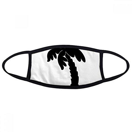 DIYthinker Kokos Boom Plant Zwart Silhouette Mond Gezicht Anti-stof Masker Anti Koud Warm Wasbaar Katoen Gift