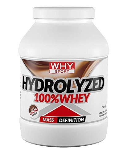 Why Sport Hydrolized 100% Whey Gusto Cacao 750 Grams 25 Porzioni