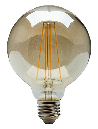 HEITRONIC LED Leuchtmittel E27 Vintage Filament G95 4W Retro-Look