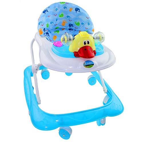 Lauflernhilfe Racer mit Spielcenter Gehfrei Gehhilfe Baby Walker in 3 verschiedenen Farben (Blau)