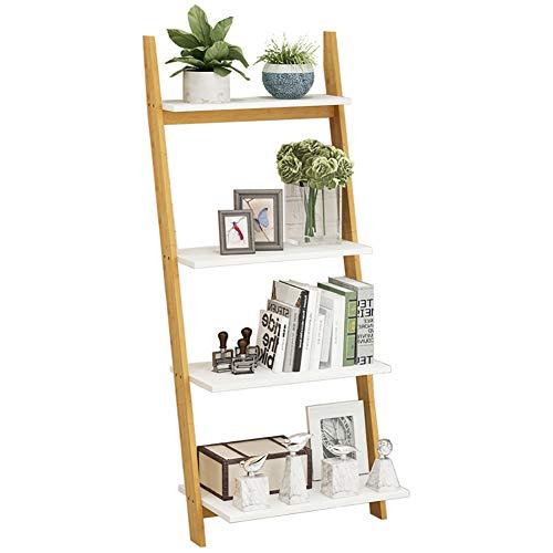 TOPYL hout 3-5 Tier Ladder plank dikker boekenplank opslag rack eenvoudige montage multifunctionele plank Display Rack voor thuis of op kantoor