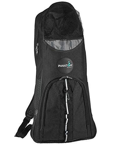 Phantom Aquatics Snorkeling Backpack Diving Gear Bag with Shoulder Strap - Fits Fins, Snorkel, Mask and More - Ideal Travel Bag for Scuba Diving, Snorkeling Gear Equipment and Water Sports - Black