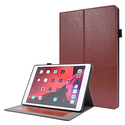 RZL Pad y Tab Fundas para iPad 10.2'2019 2020, Funda Protectora de la Tableta a Prueba de Golpes a Prueba de choques de Despertador automático para iPad 10.2 Pulgadas (Color : Marrón)