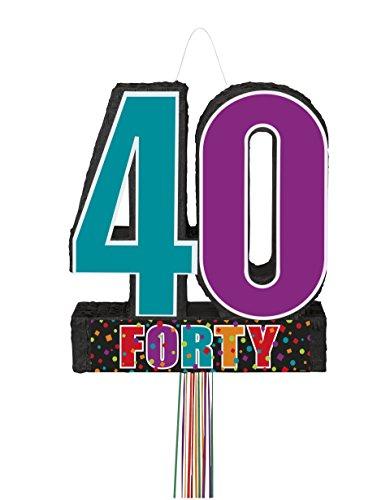 Satin Birthday Cheer Piñata mehrfarbig