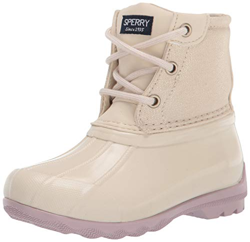 Sperry Port Rain Boot, Oat, 6 US Unisex Little Kid