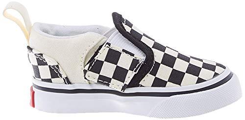 Vans Unisex Baby TD Asher V Krabbelschuhe, Weiß (Checkers/Black/Natural), 25.5 EU