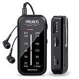 PRUNUS J-985 Transistores Radio de Bolsillo FM/Am, Radio Portatil Pequeña con Auriculares (Estéreo en Modo de FM-ST) Mini Radio Funciona con 2 Pilas AAA, Clip Trasero, para Correr, Caminar y Viajar.