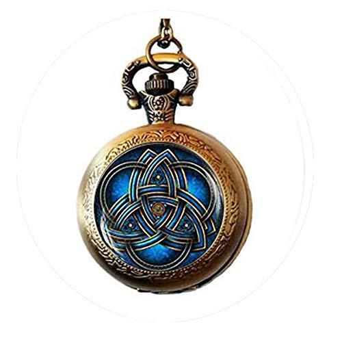 bab Schlüsselanhänger, Triquetra, Keltisches Dreieck, keltischer Knoten, keltischer Knoten, keltischer Stil, Dreifaltigkeitssymbol, Schlüsselanhänger, Taschenuhr-Halskette, Bibelzitat-Anhänger