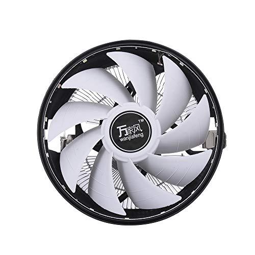 Fesjoy Ventilador hidráulico para CPU con tecnología Heatpipe silenciosa compatible con Intel 1156 1155 1151 AMD LED