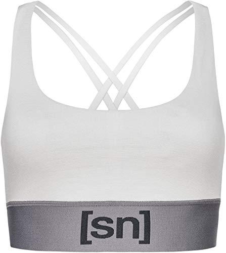 super.natural Damen Sport-Top, Mit Merinowolle, W MOTION TOP, Größe: S, Farbe: Hellgrau