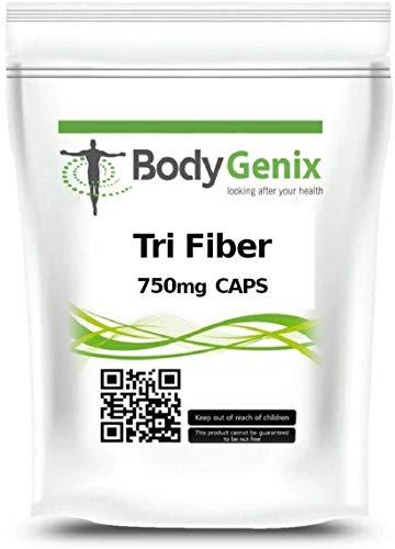 Tri-Fiber Veg Caps (Psyllium Powder, Oat Bran, Apple Pectin Powder) Bodygenix UK (30)
