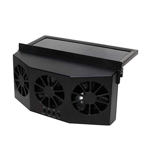 ArgoBa 4W Universal Solar Electrico Enfriador automático del ventilador de la ventana Ventiladores de ventilación Ventilador del aire acondicionado Ventilador Radiador del coche