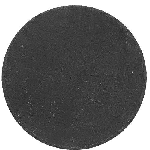 Butlers Plateau Schieferplatte - schwarz - Ø 30 cm