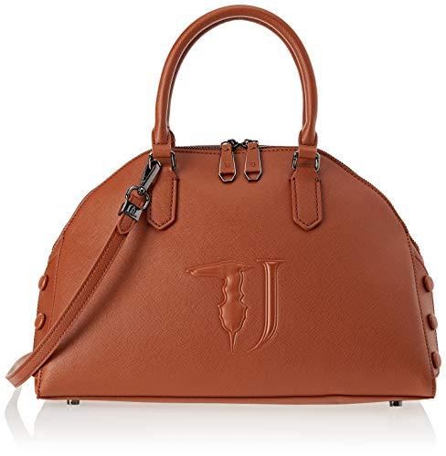Trussardi Jeans 75B00453-9Y099999, Borsa a Mano Donna, Marrone (Leather On T O Ne), 35x30x15 cm (W x H x L)